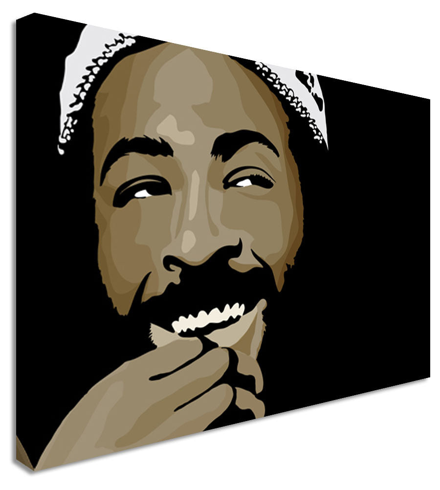Marvin Gaye Smile Black  - Canvas Wall Art Picture Print