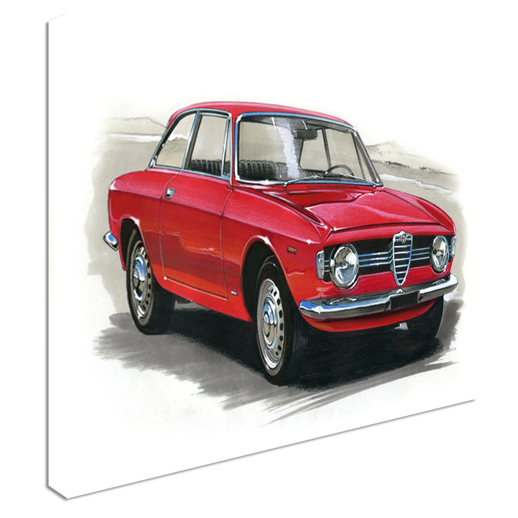 Alfa Romeo Giulia GT 1300 Canvas Wall Art Picture Print