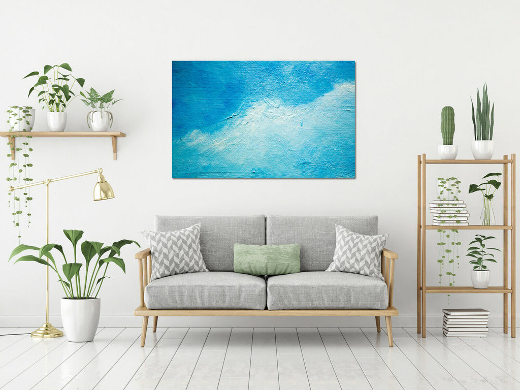 Blue Ocean Abstract Painting Canvas Wall Art Picture Print
