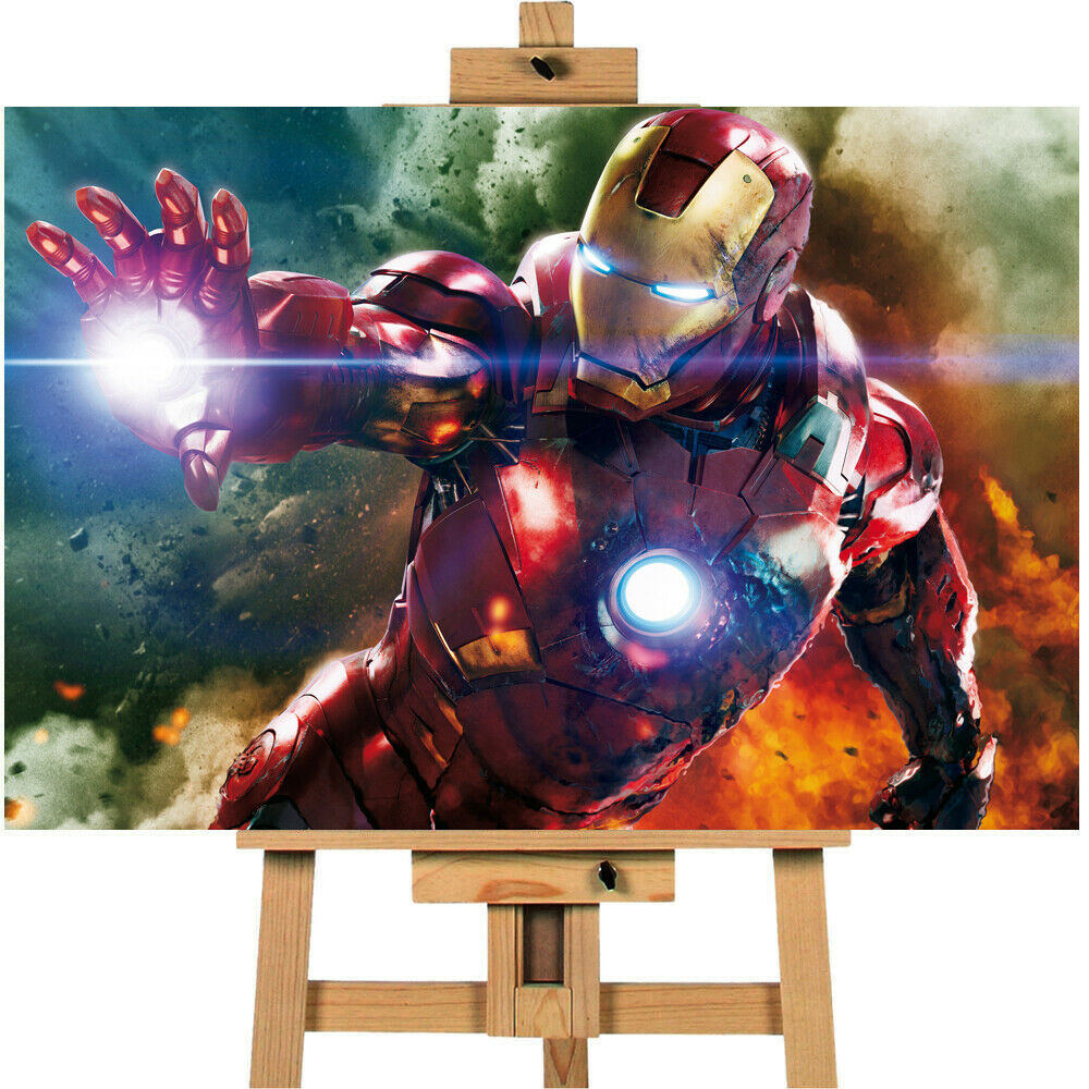 Avengers Assemble Iron Man Repulsor Canvas Print Wall Art