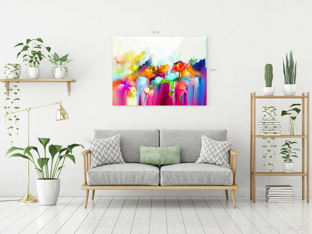 Sunshine Flowers Canvas Wall Art Picture Print