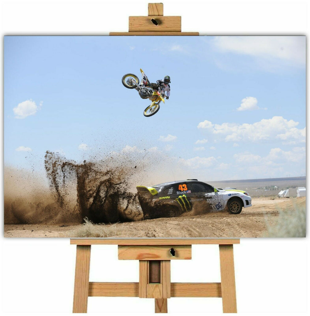 dirt bike canvas wall art picture