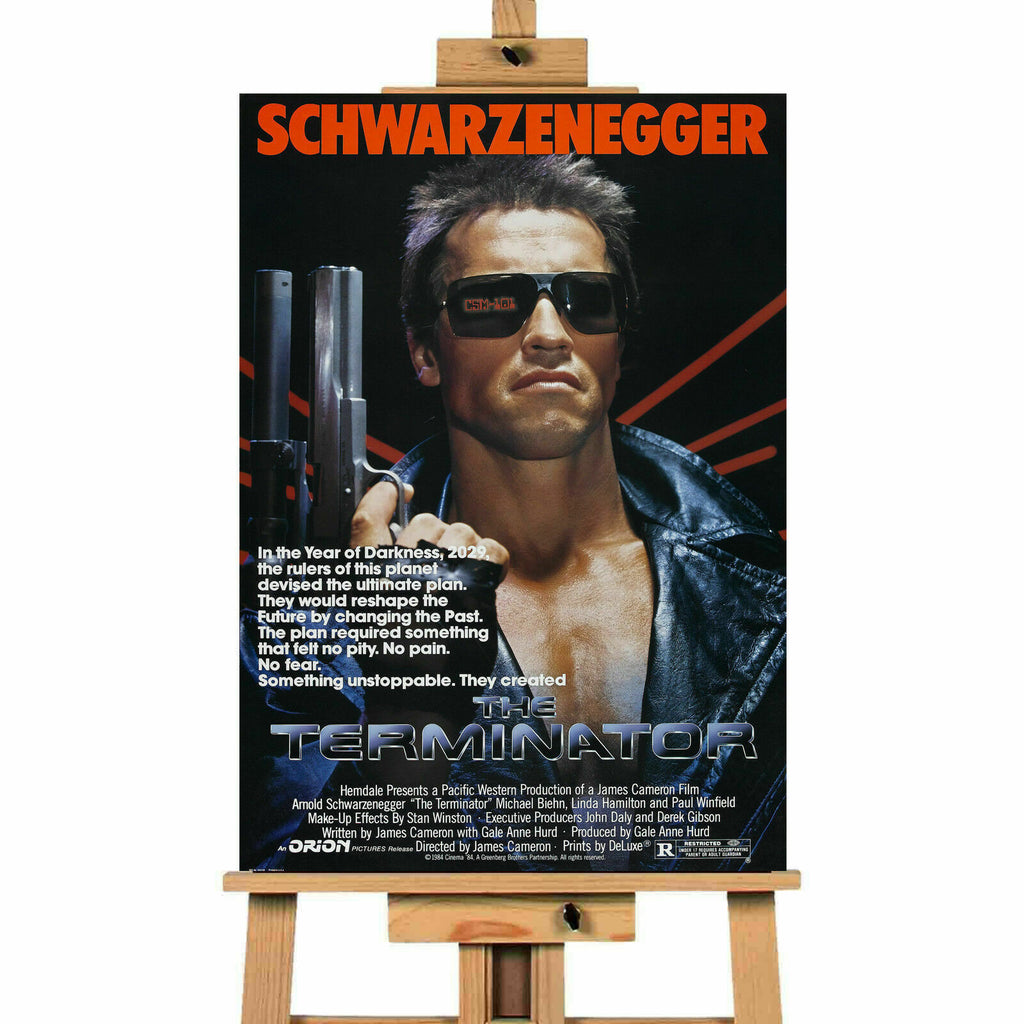 Terminator Arnie Movie Canvas Print Wall Art