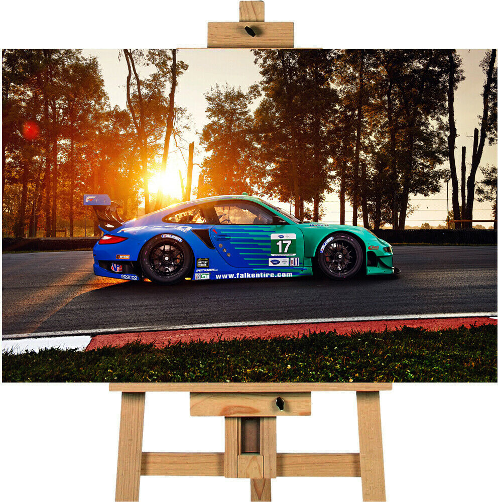 Porsche RSR 2 Racecar Canvas Print Wall Art Picture
