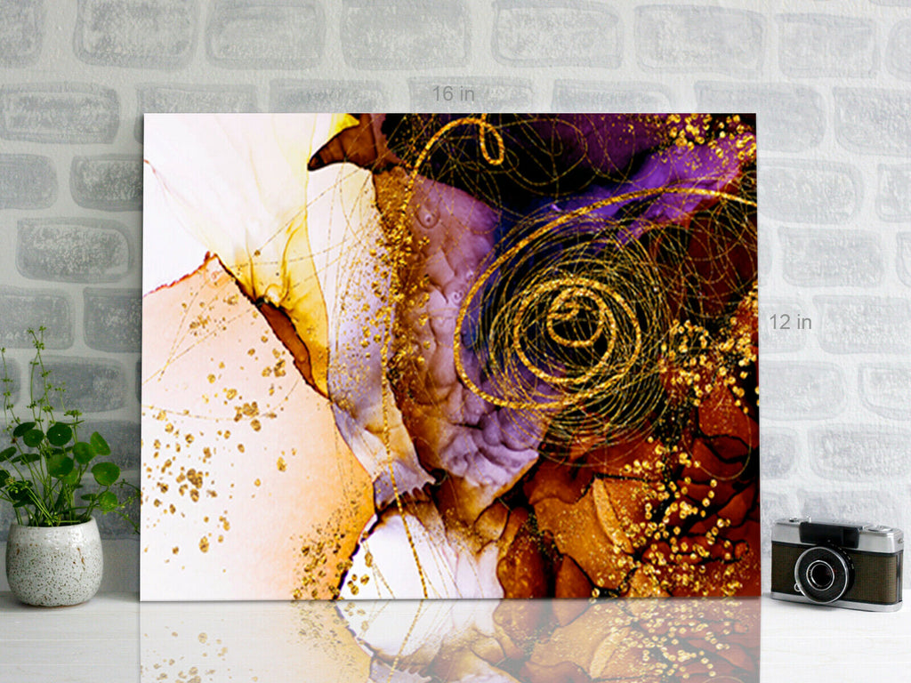 Swirl Autumn Abstract Canvas Wall Art Picture Print