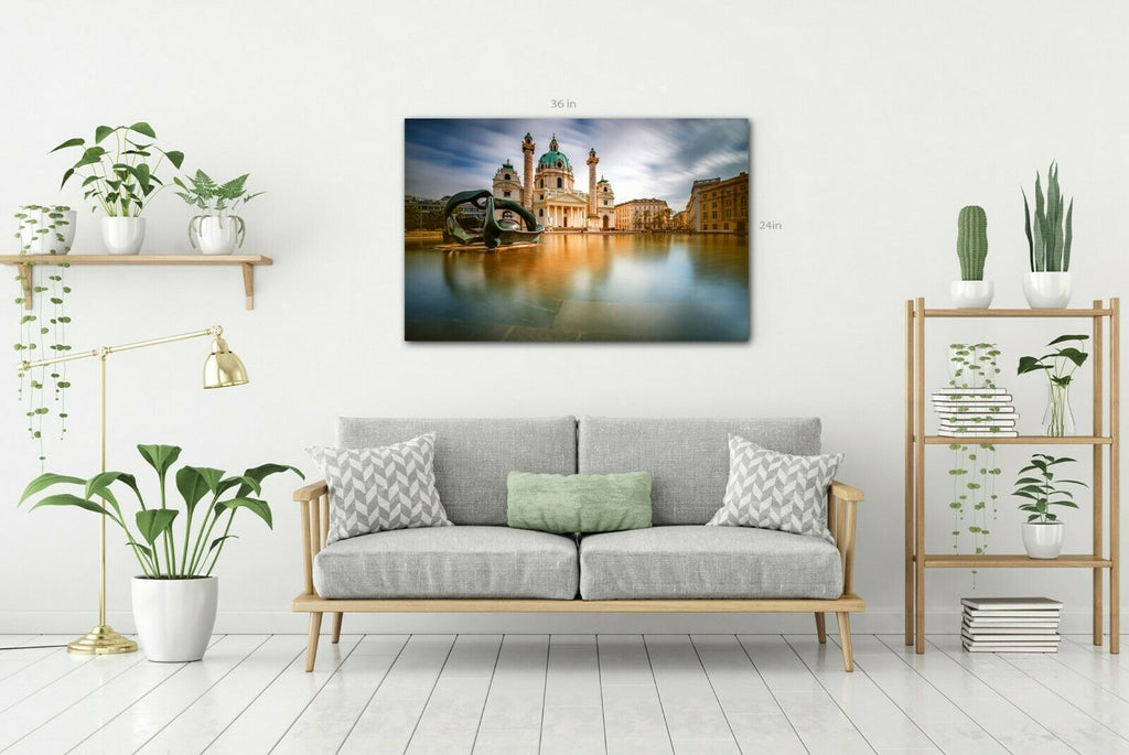 Vienna St.Charles Church Canvas Wall Art Picture Print