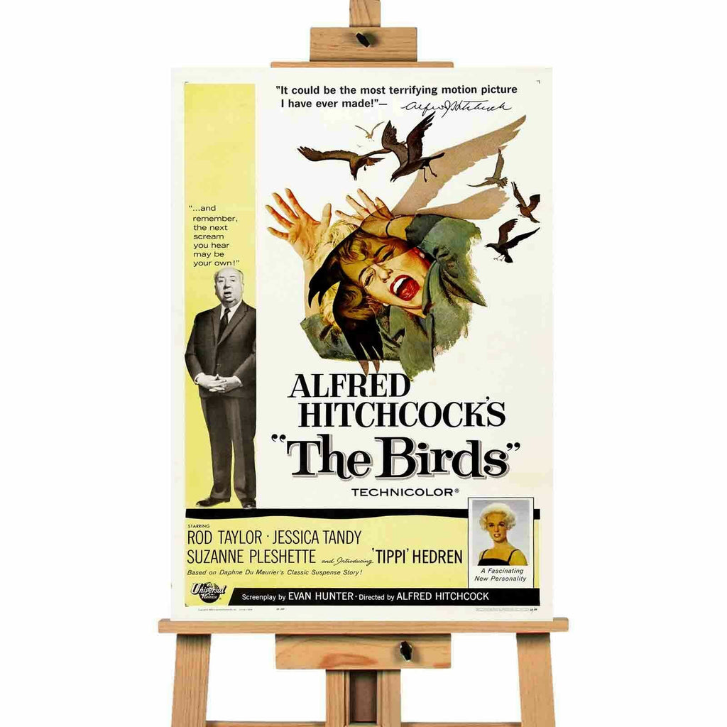 Hitchcock The Birds  movie canvas wall art print