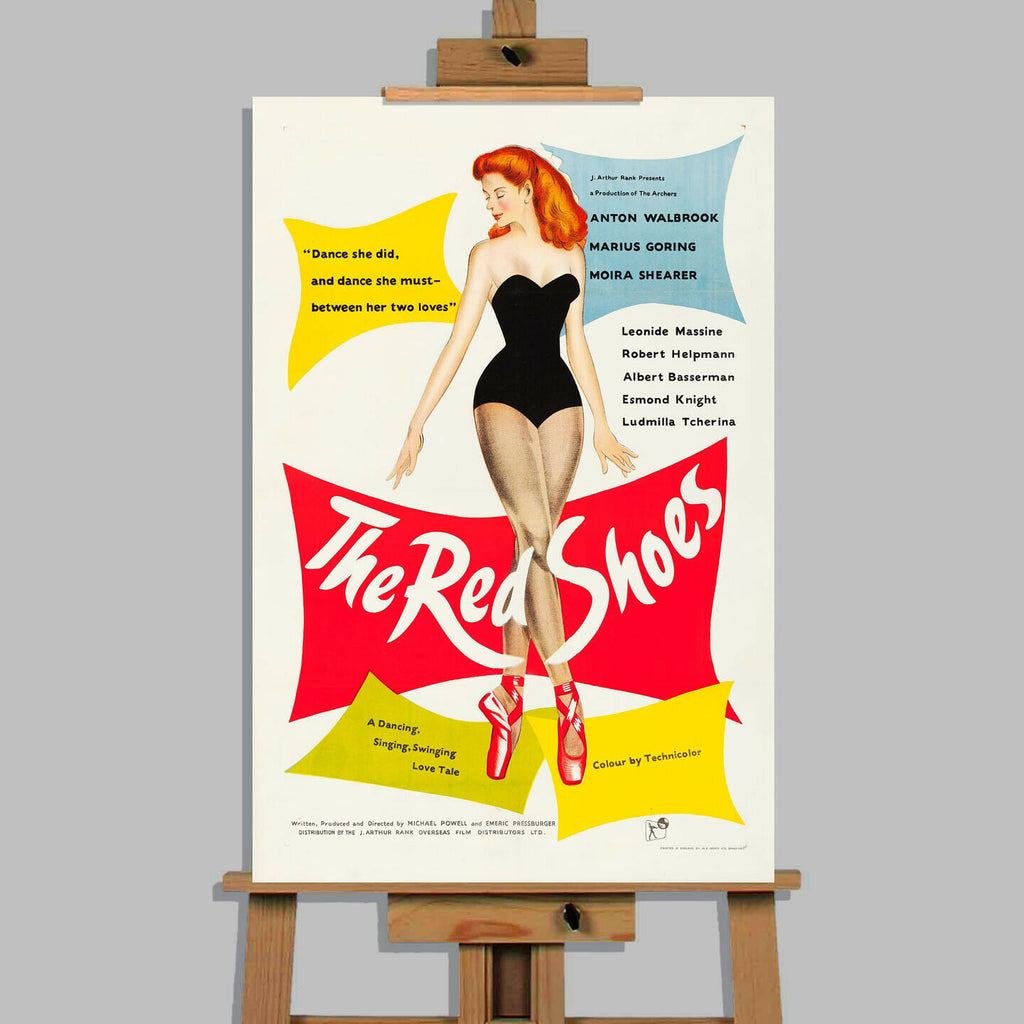 The Red Shoes Movie Canvas Wall Art Picture Print