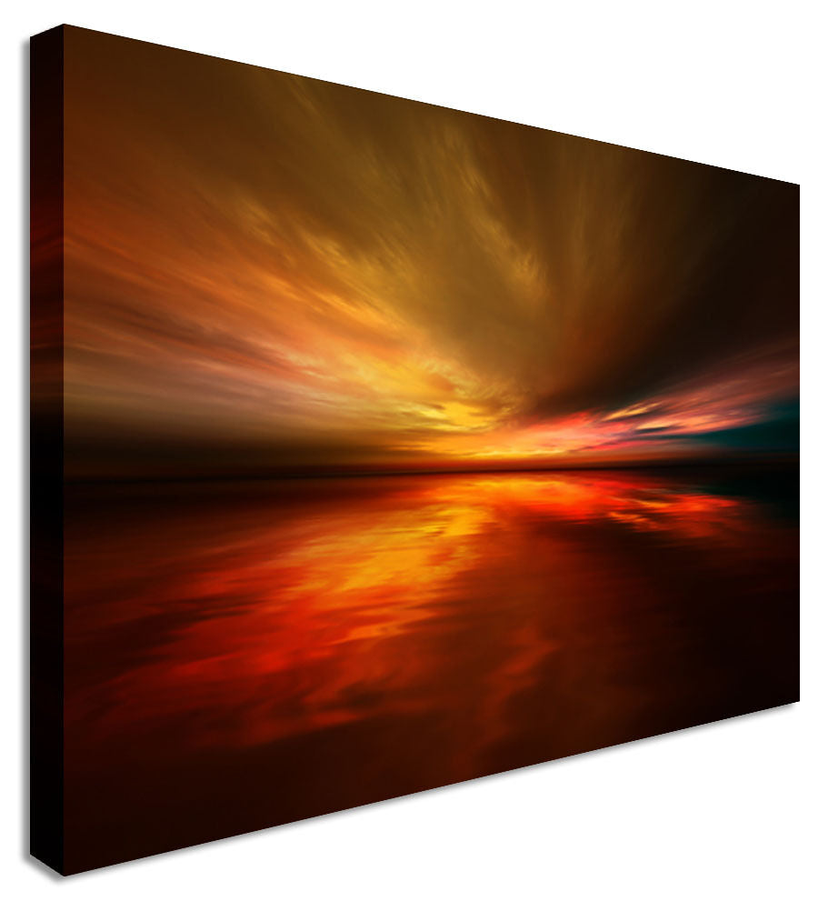 Moody Sunset  Canvas Wall Art Picture Print
