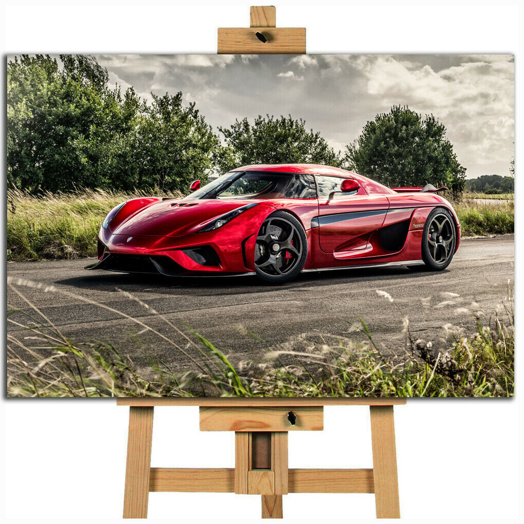 Koenigsegg Regera Car Canvas Print Art Picture