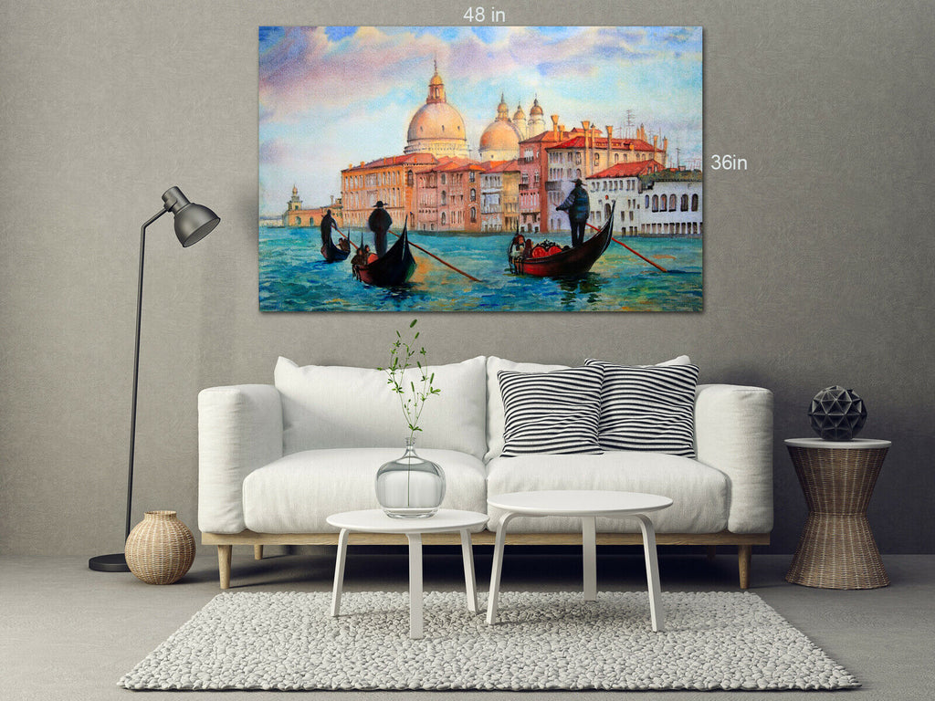 Venice lovely paint style Canvas Wall Art Picture Print