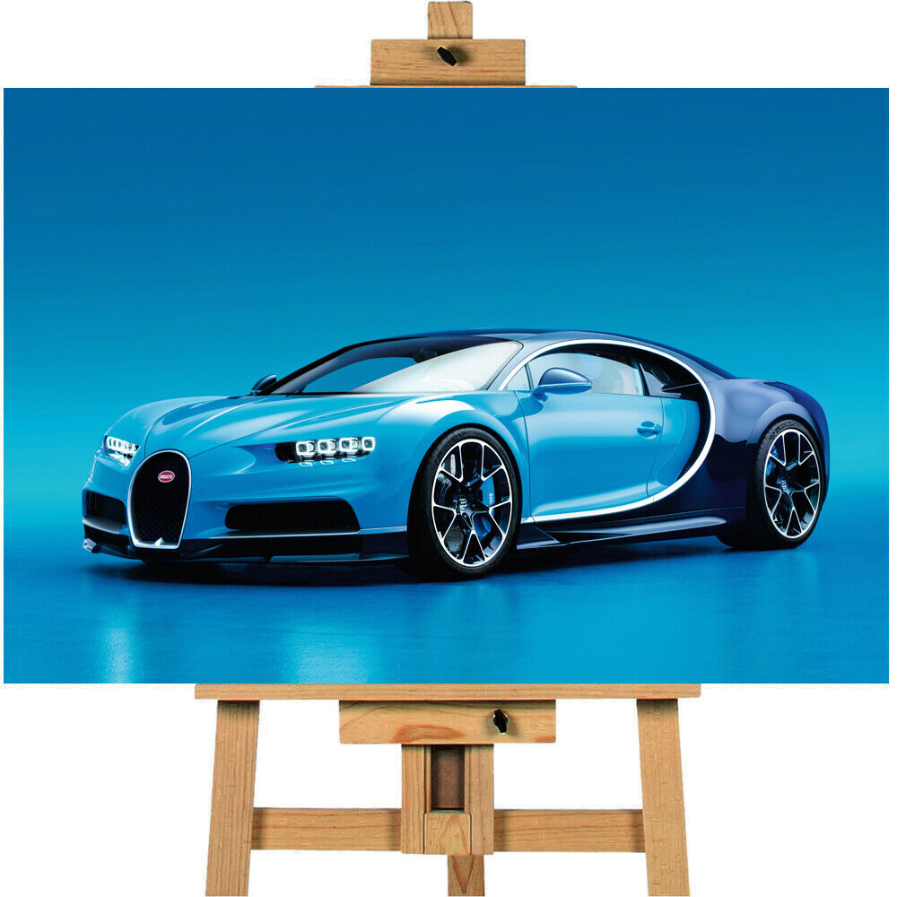 Bugatti Chiron  Canvas Print Wall Art Poster