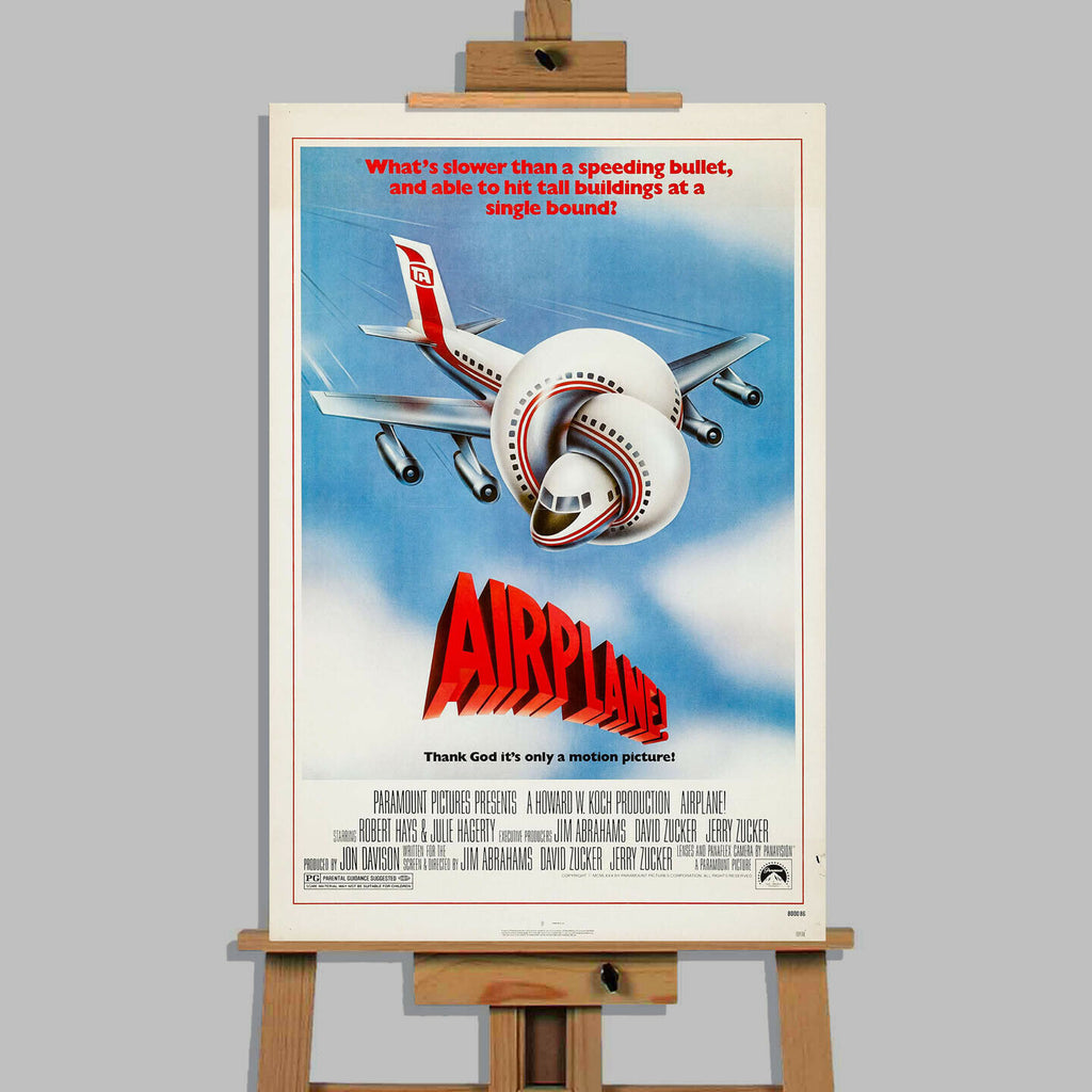 Airplane Movie Stretched Canvas Wall Art Picture Print