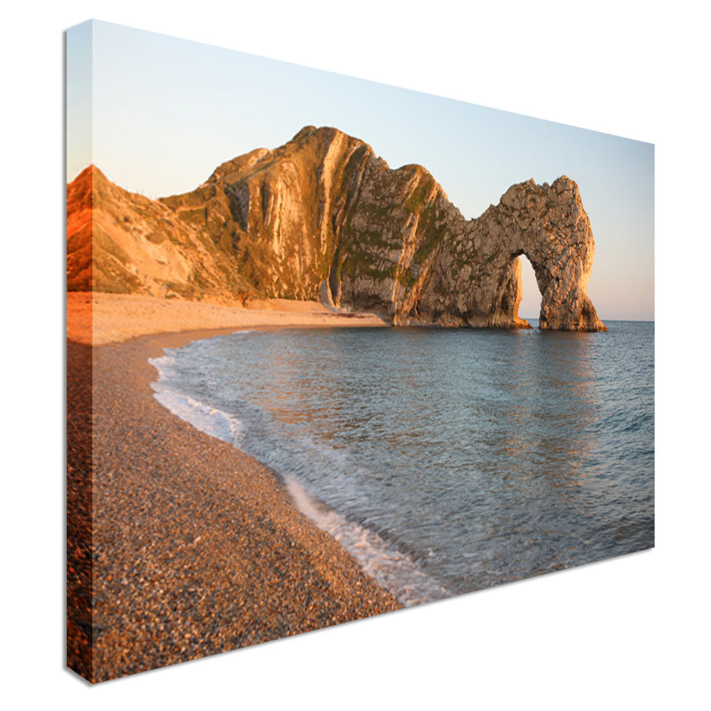 Durdle Door limestone arch Canvas Wall Art Picture Print