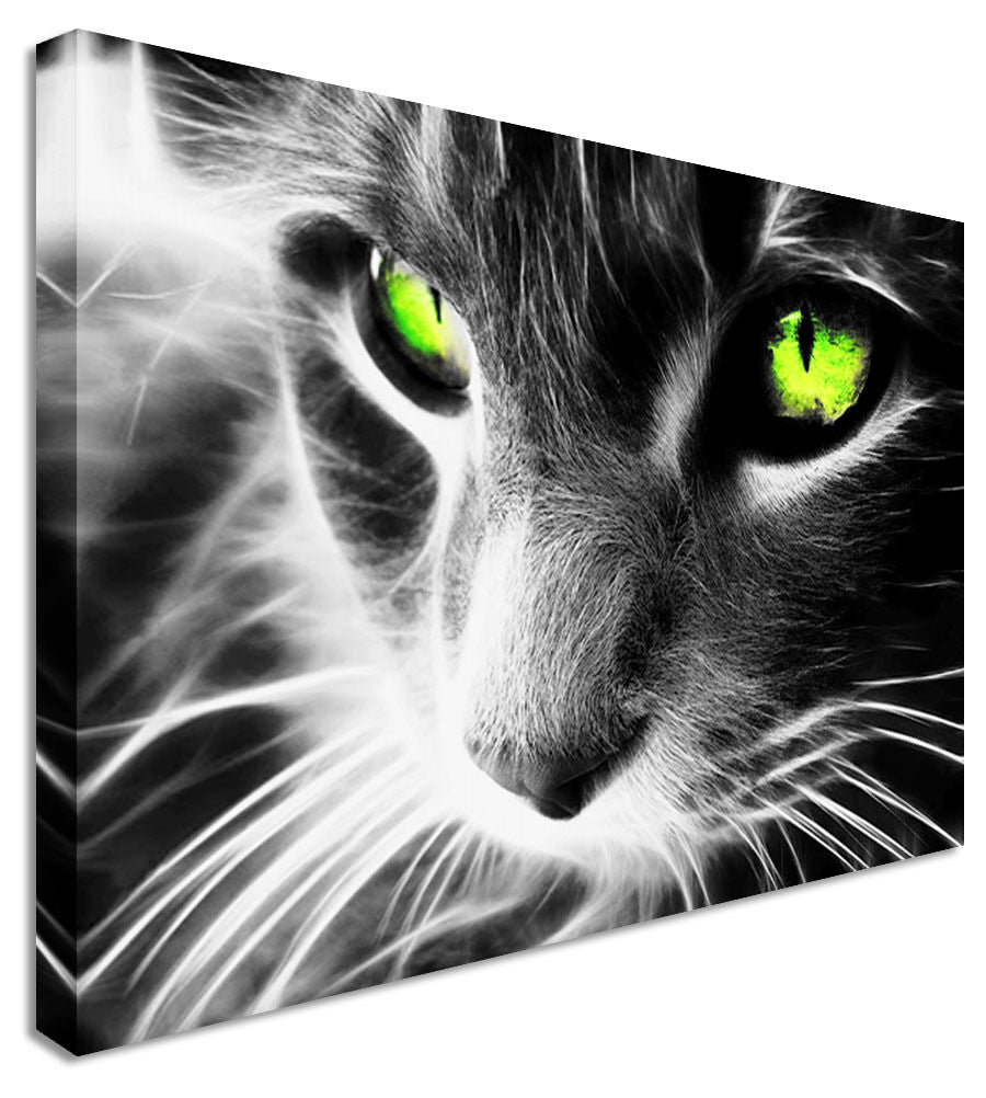 CAT MODERN Canvas Wall Art Picture Print