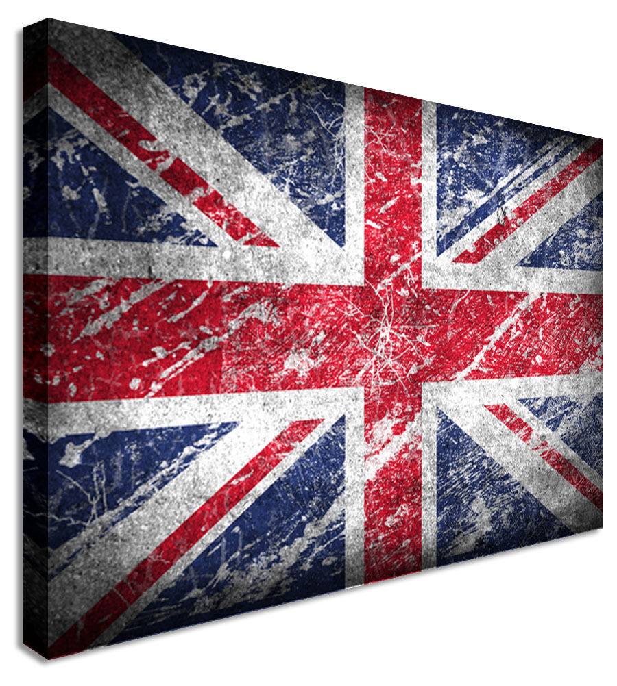 British Union Jack Canvas Wall Art Picture Print