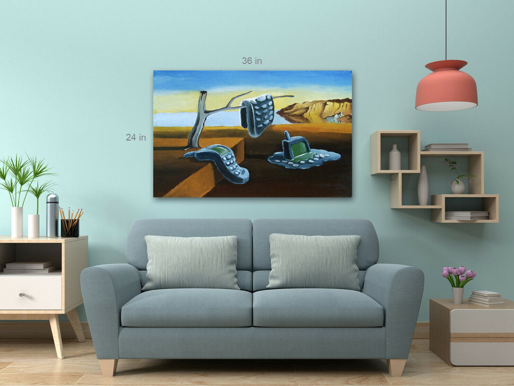 Dali Style Surreal Mobile Canvas Wall Art Picture Print