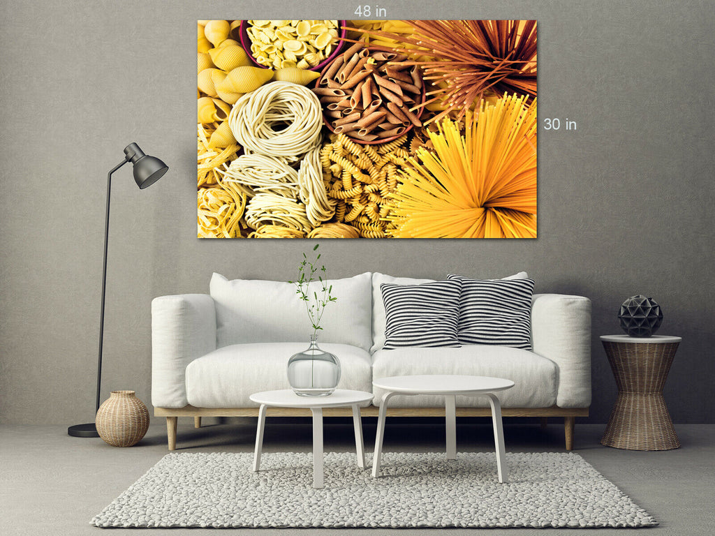Italian Pasta Selection Canvas Wall Art Picture Print