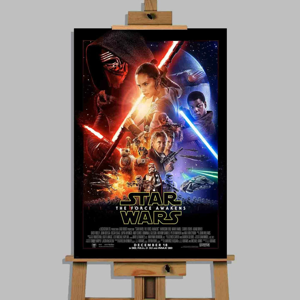 Star Wars The Force Awakens Movie Stretched Canvas Or Poster Print Wall Art