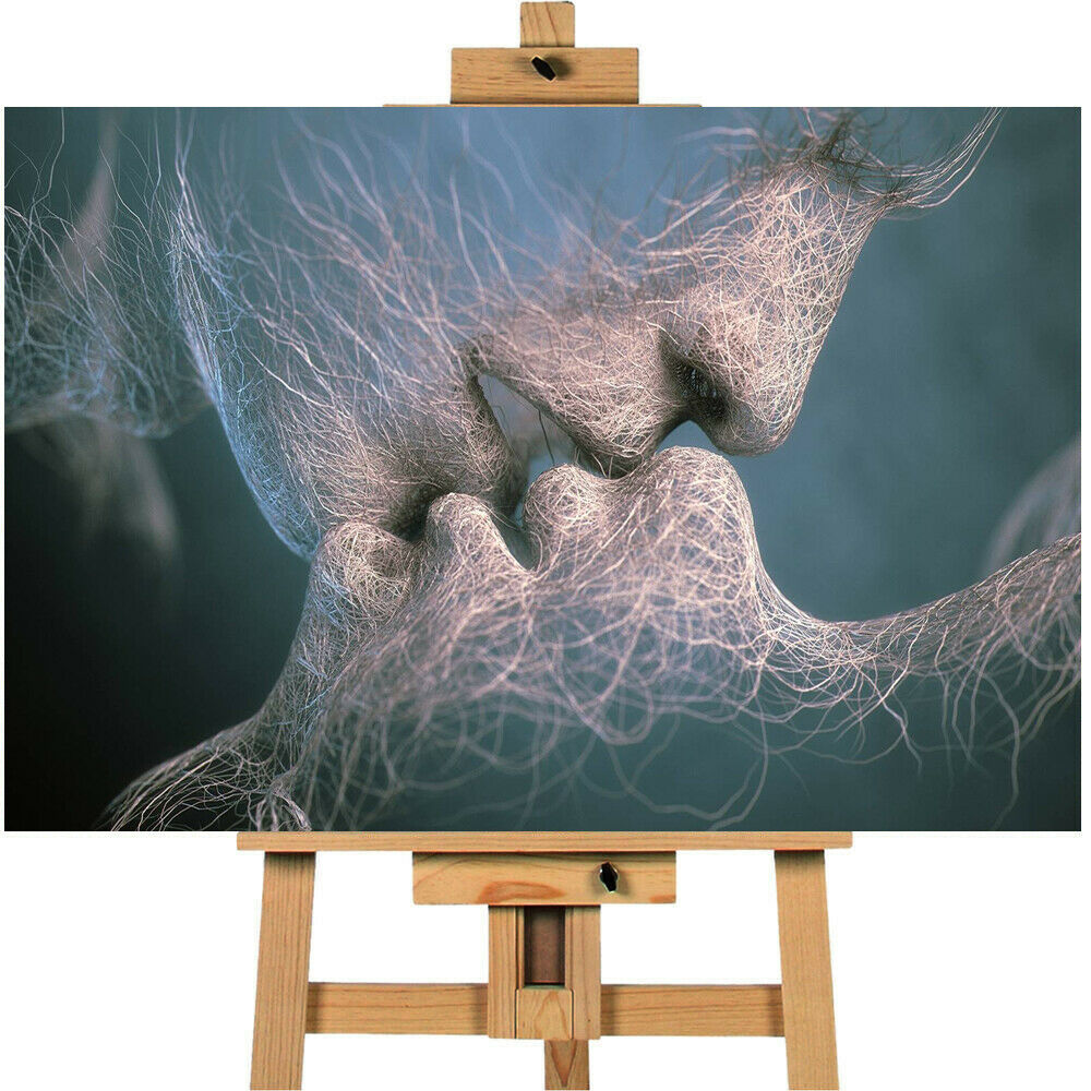 The Sci Fi Kiss  Android Contemporary  Canvas Print Wall art