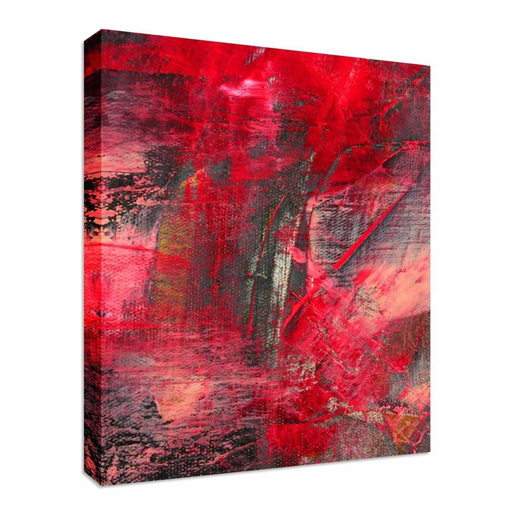 Abstract Painted Canvas Canvas Wall Art Picture Print