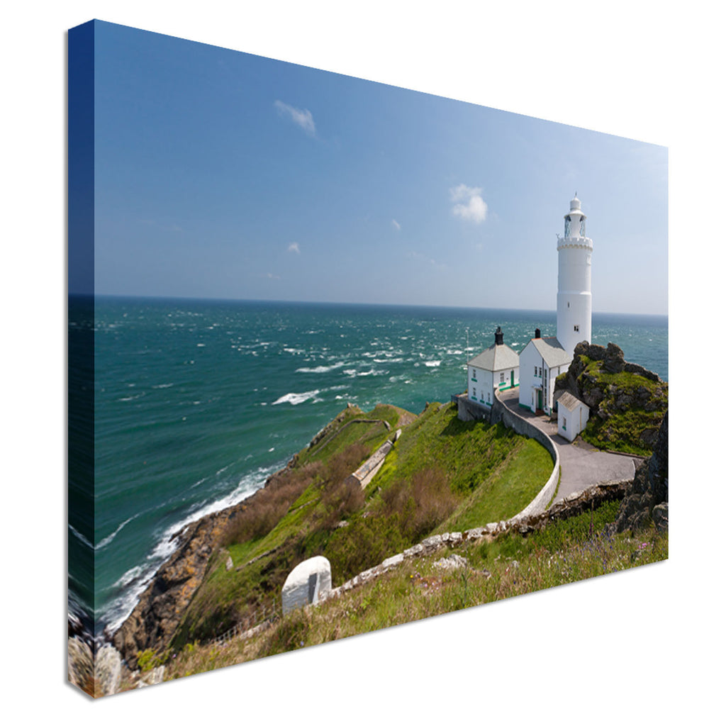 1836 lighthouse Start Point Devon UK Canvas Wall Art Picture Print