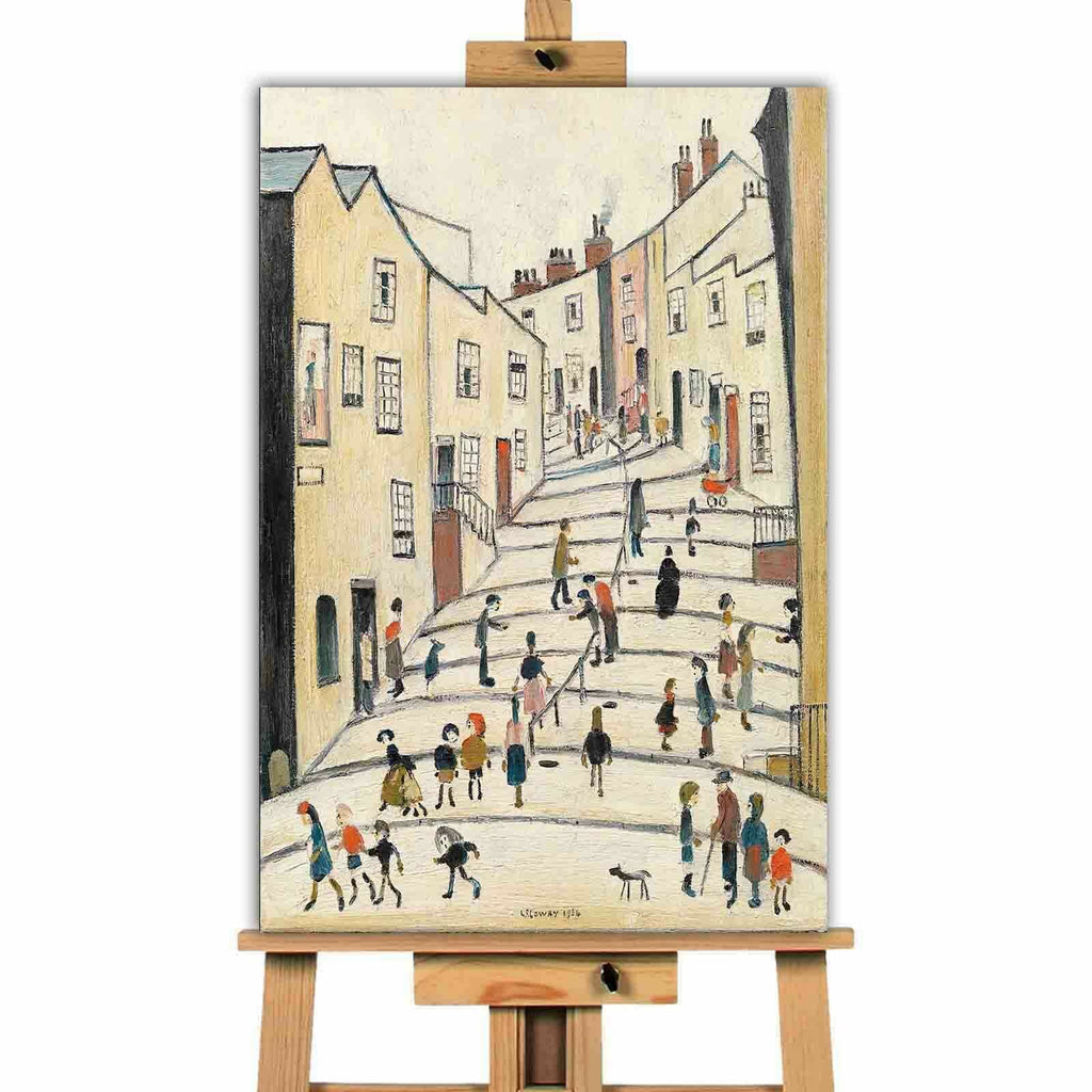 L.S. Lowry Crowther street Canvas Wall Art Picture Print