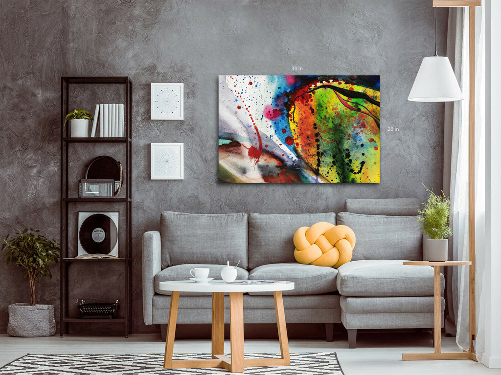 Bold Abstract Brush Strokes Canvas Wall Art Picture Print