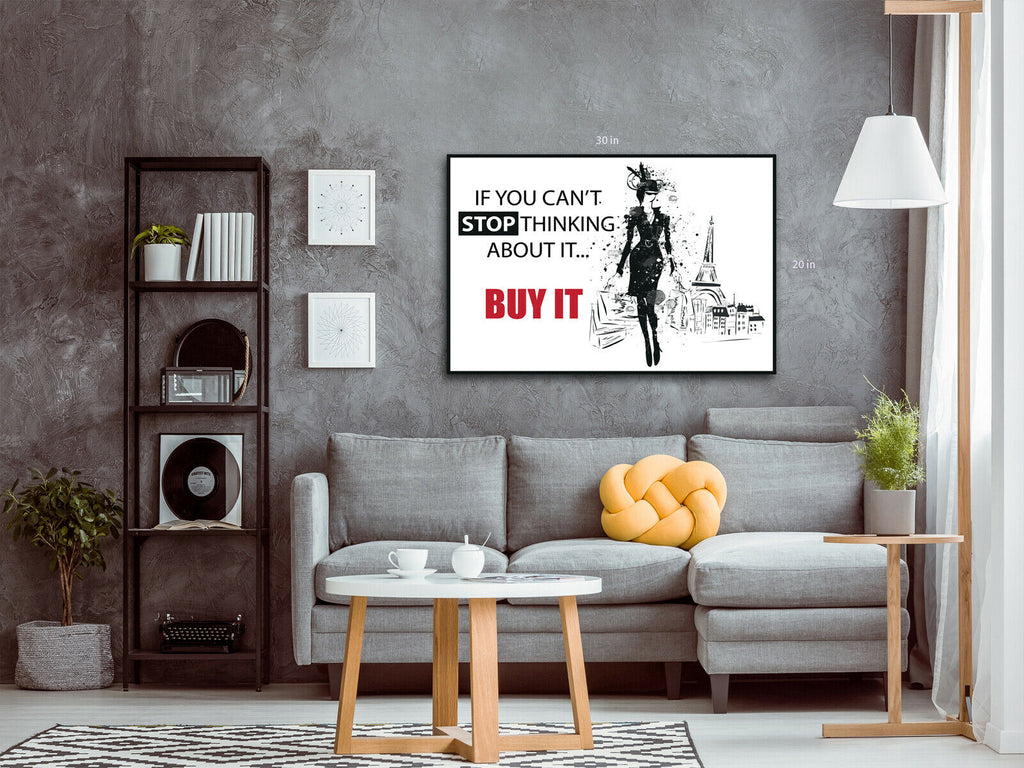 Shopping girl bags Canvas Wall Art Picture Print