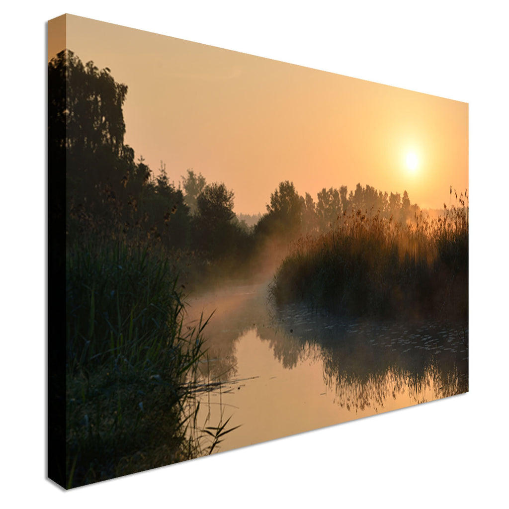 Sunset Jetty on Sunset Canvas Wall Art Picture Print