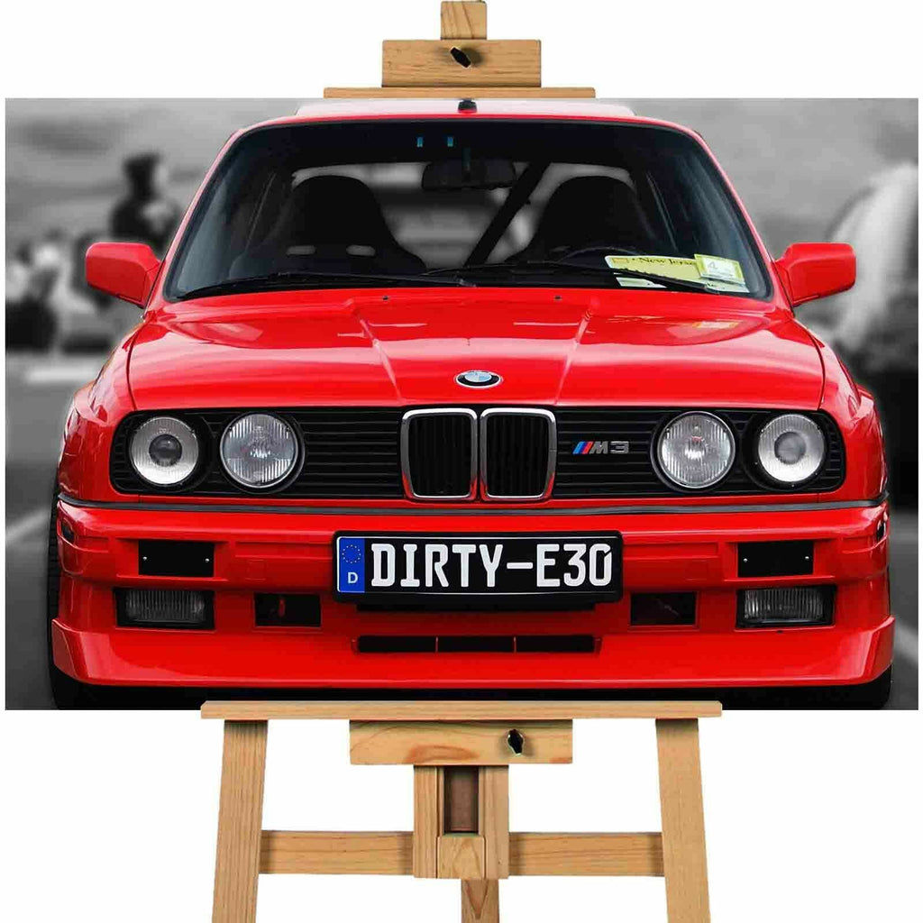BMW E30 canvas wall art print