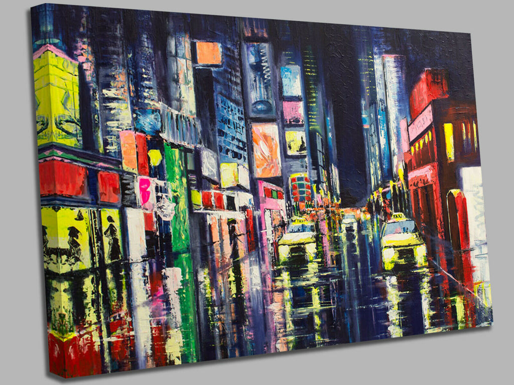City Abstract New York Canvas Wall Art Picture Print