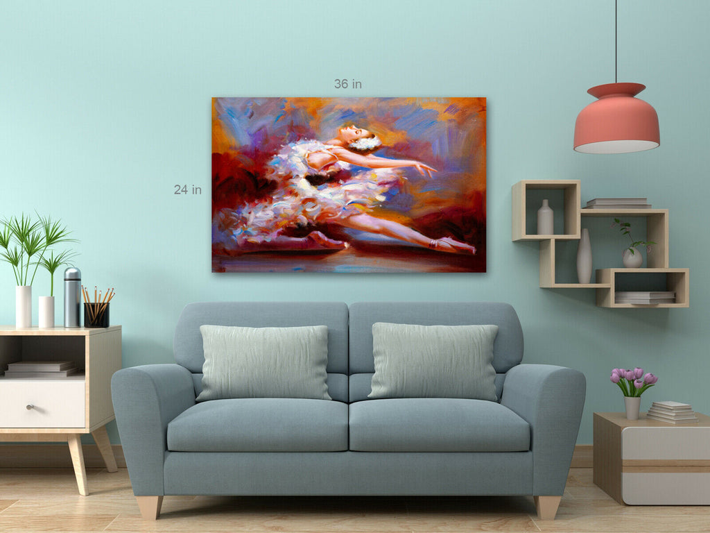 Ballet Girl Modern Art Canvas Wall Art Picture Print