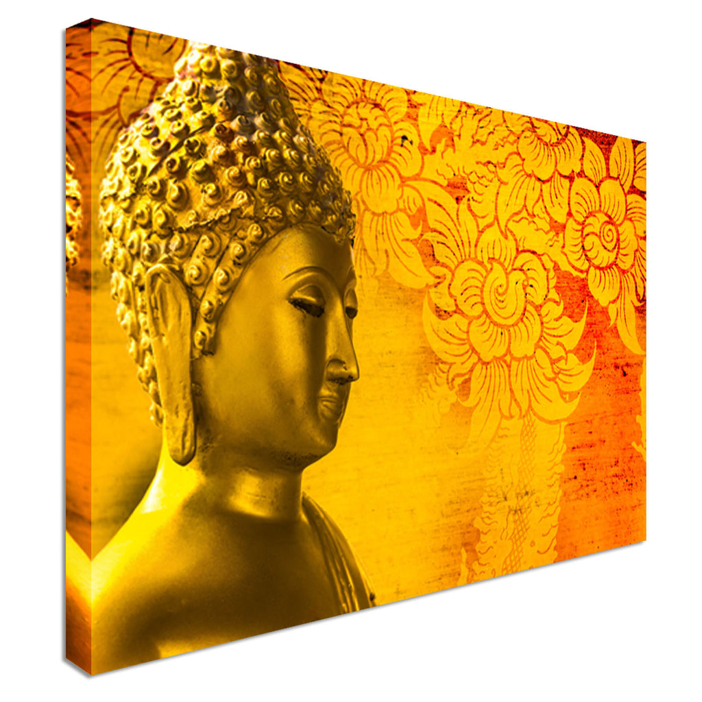 Buddha gold statue Thailand Canvas Wall Art Picture Print