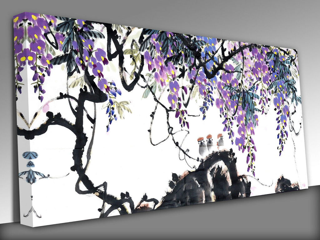 Traditional Chinese Painting Panoramic Canvas Wall Art Picture Print