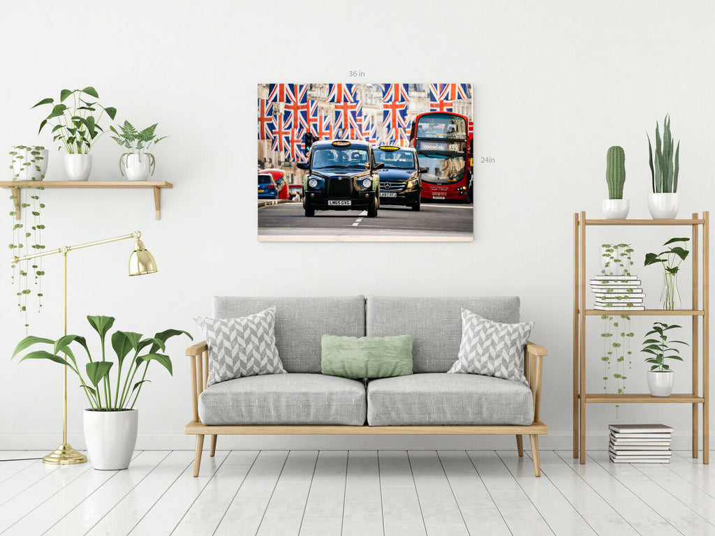 London Taxi Canvas Wall Art Picture Print