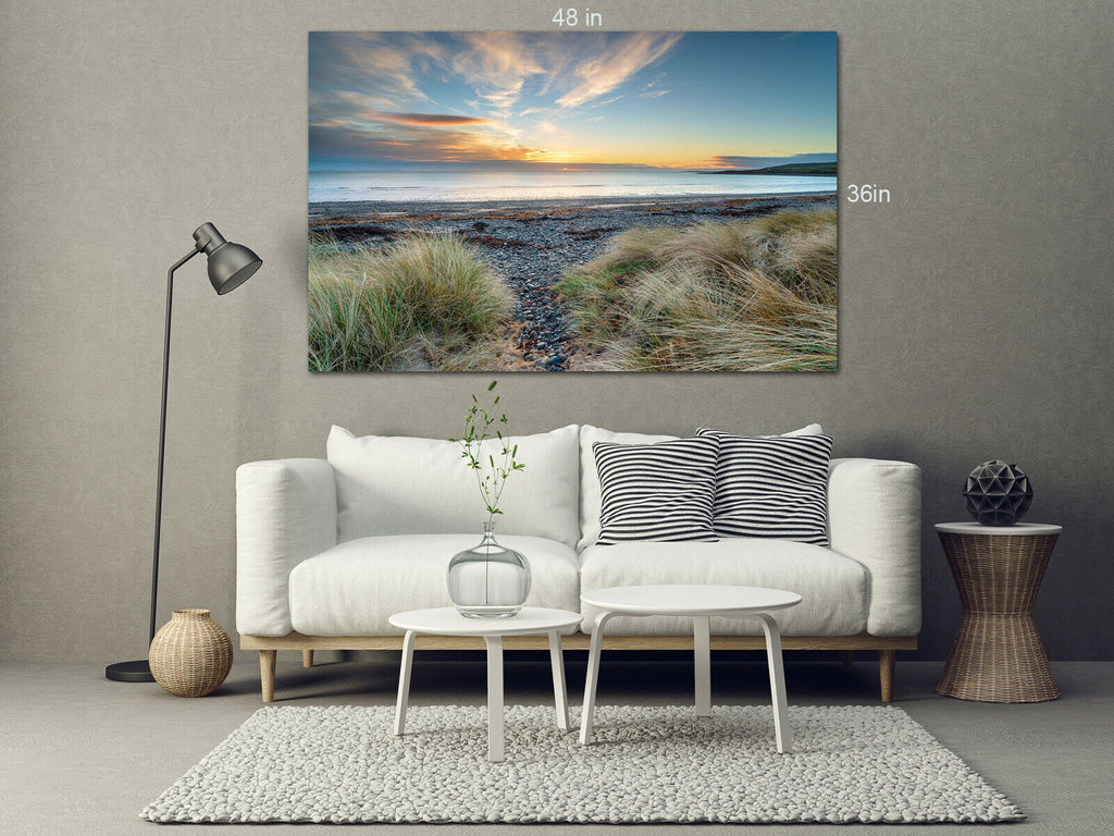 Sunset at Ardwell Galloway-coast Canvas Wall Art Picture Print