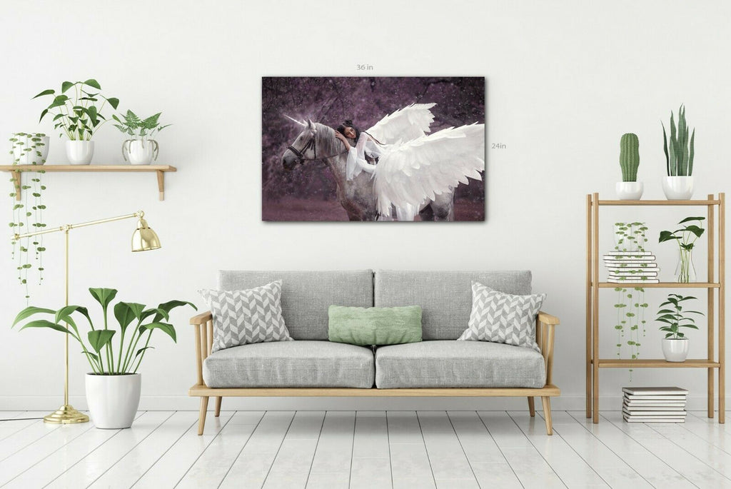 Lady On A Unicorn Canvas Wall Art Picture Print