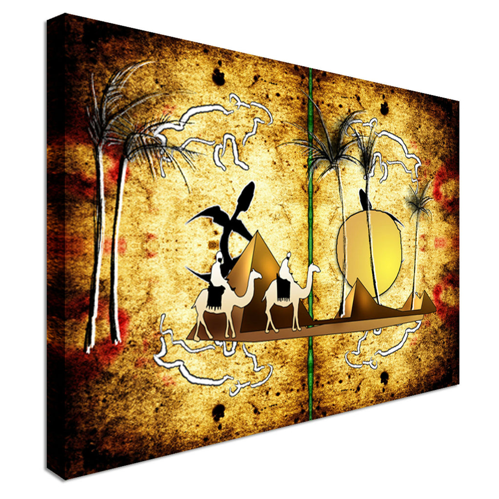 African ethnic Canvas Wall Art Picture Print