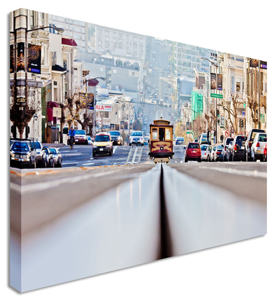 San Francisco Tram Lines Canvas Wall Art Picture Print