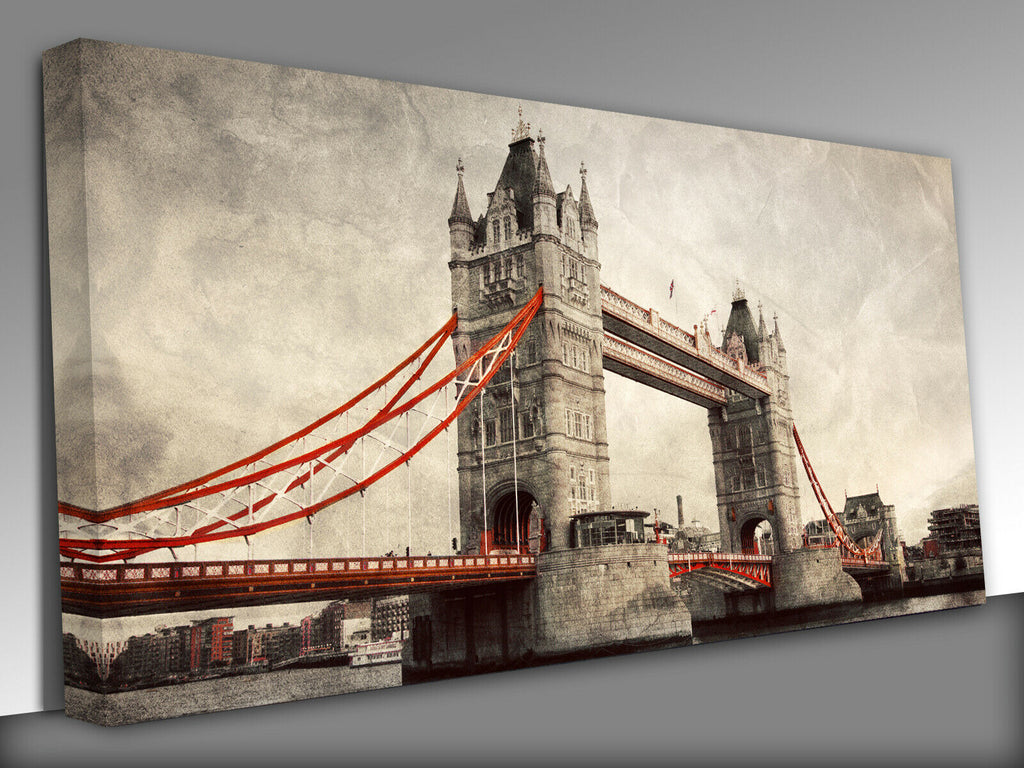 Tower Bridge in London, England, the UK.,Panoramic Canvas Wall Art Picture Print