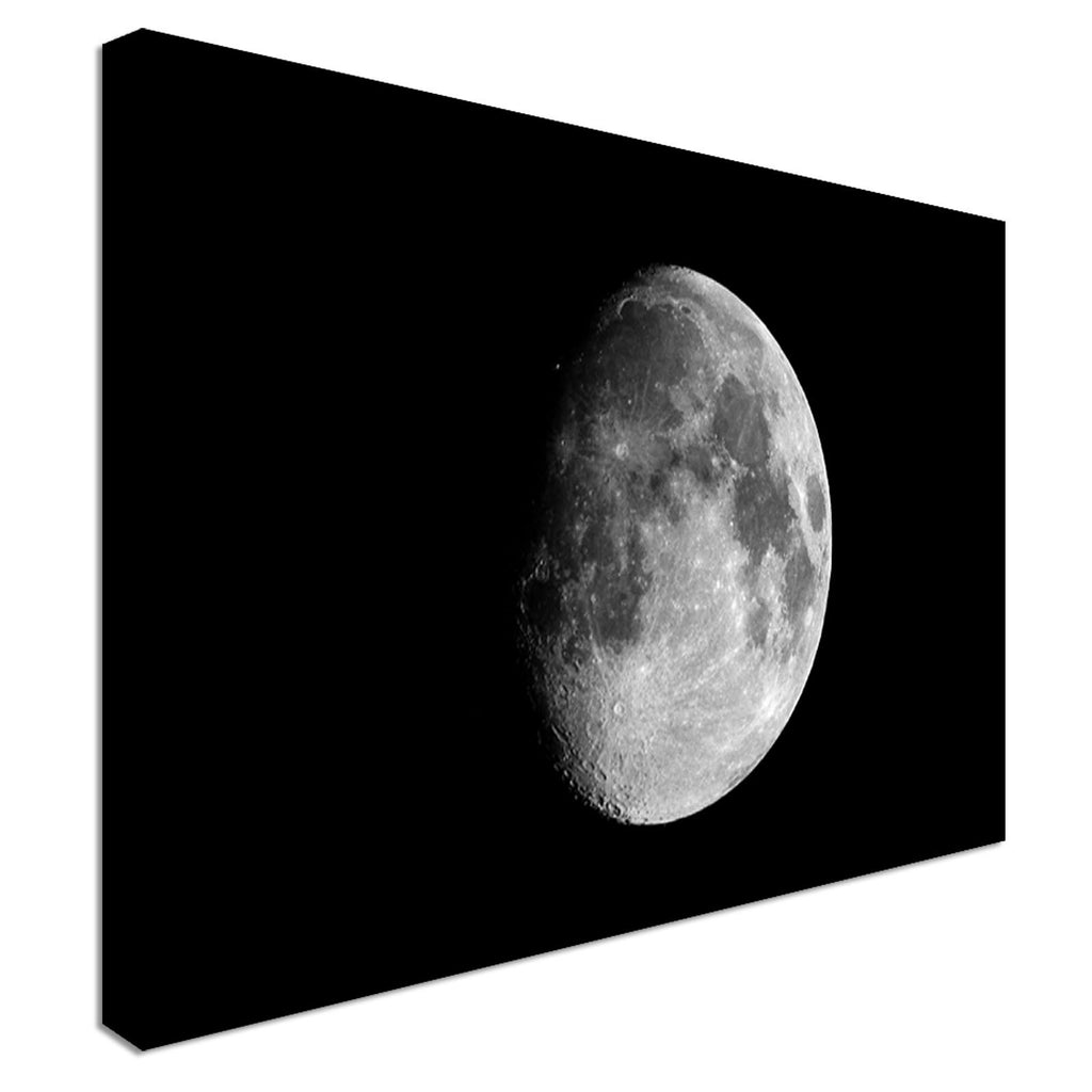 Waxing gibbous moon Canvas Wall Art Picture Print