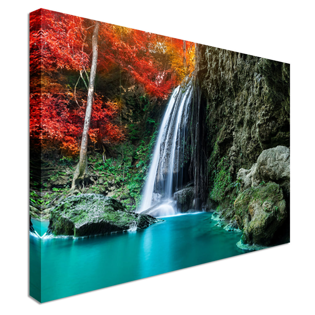 Beautiful Waterfall Canvas Wall Art Picture Print