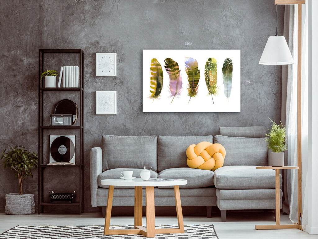 Feathers  Canvas Wall Art Picture Print