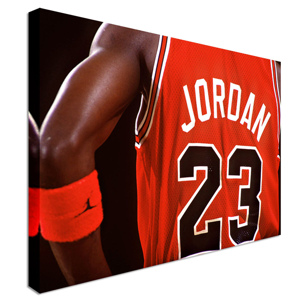 Michael Jordan 23 Dunk NBA Legend Basketball Canvas Wall Art Picture Print