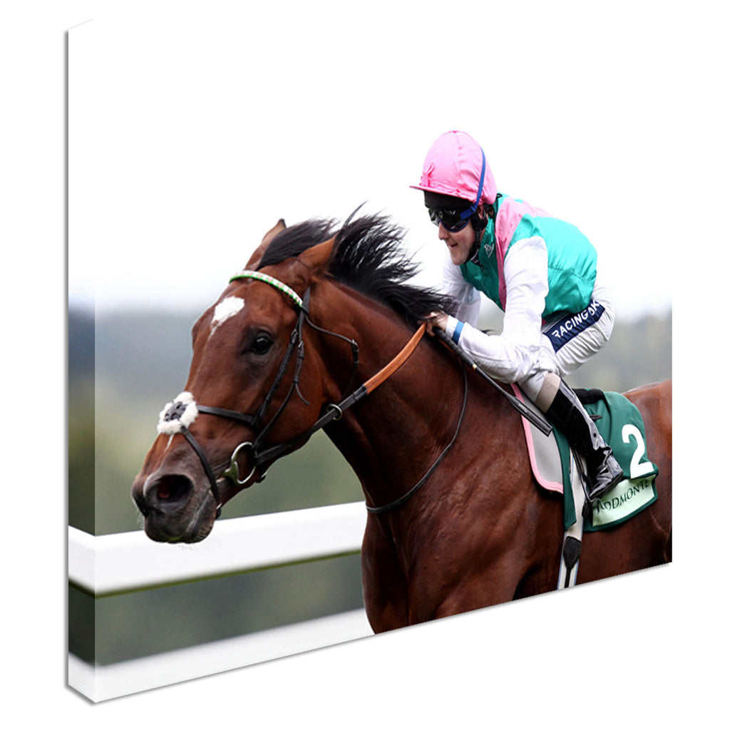 Frankel Jockey Queally Horse Racing Canvas Wall Art Picture Print