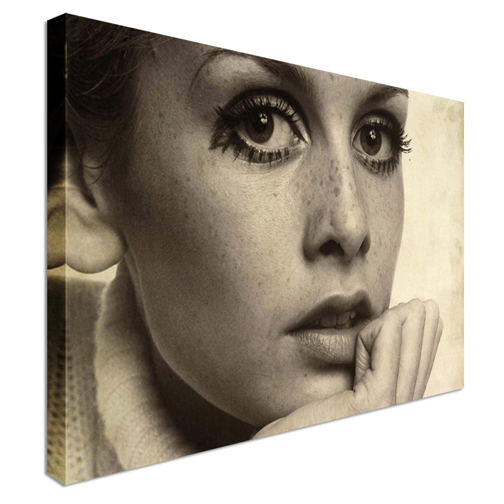 Twiggy retro pop art Canvas Wall Art Picture Print
