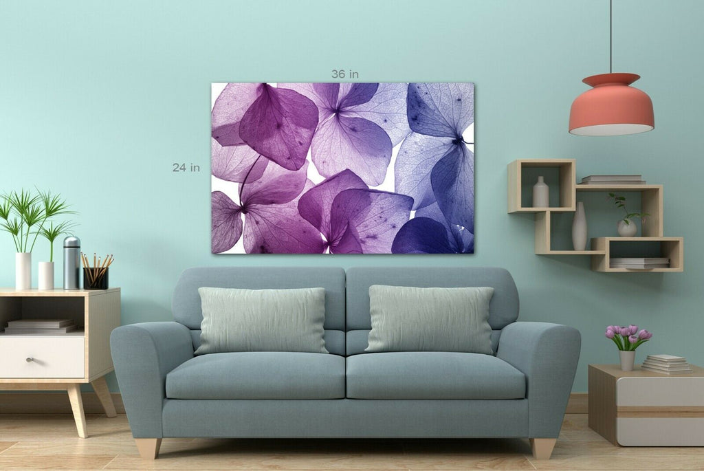 Purple leaf transparent Canvas Wall Art Picture Print
