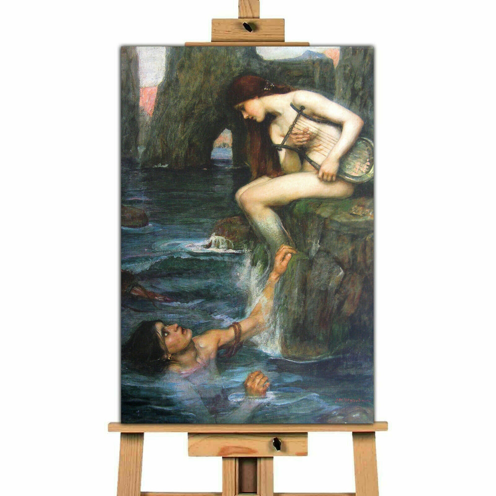 The Siren John William Waterhouse Canvas Wall Art Picture Print