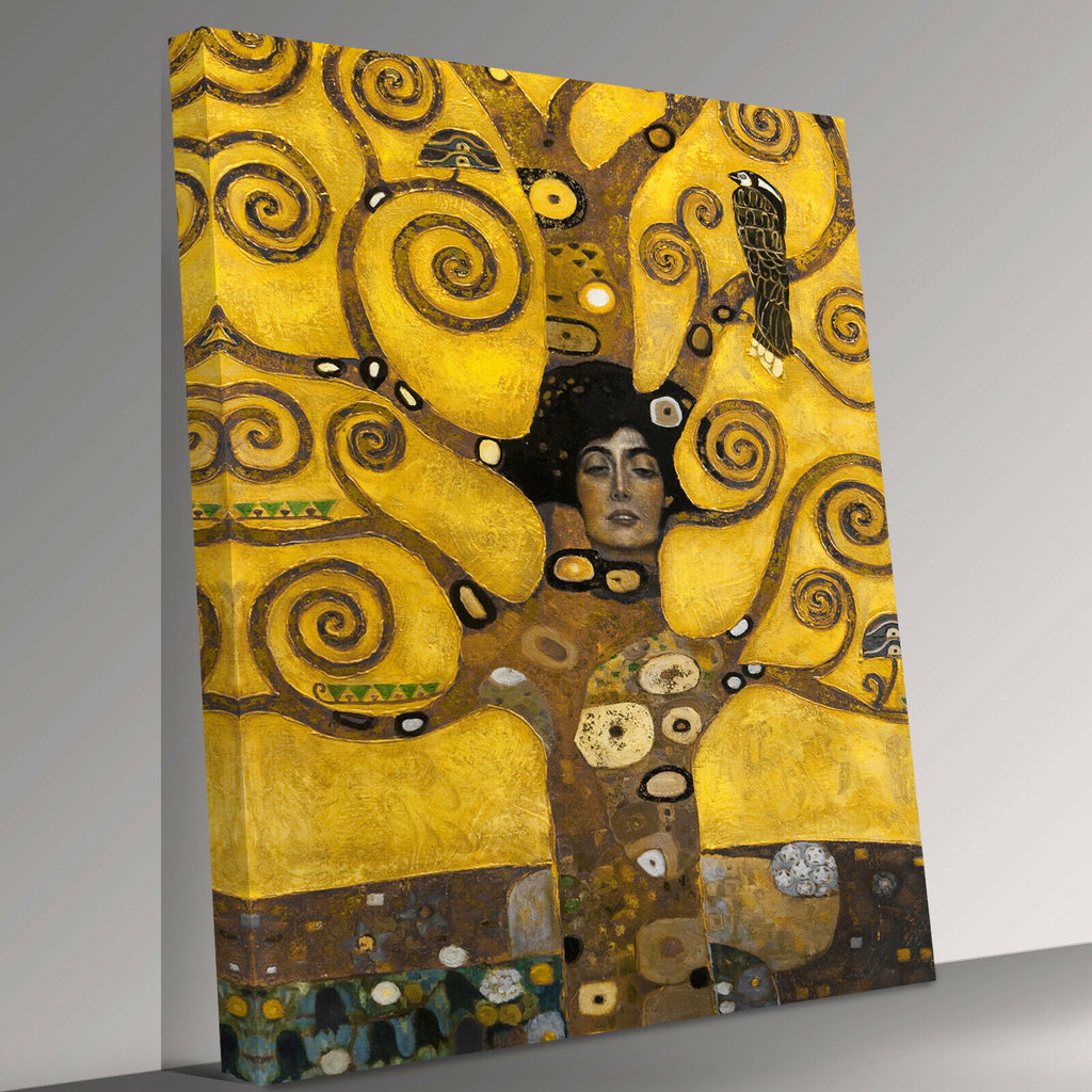 tree of abstract swirl Gustav Klimt Canvas Wall Art Picture Print